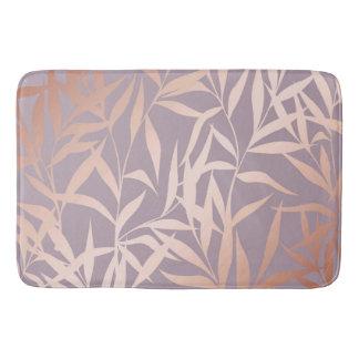 rose gold, asian,leaf,pattern,bamboo trees, beauty bath mat