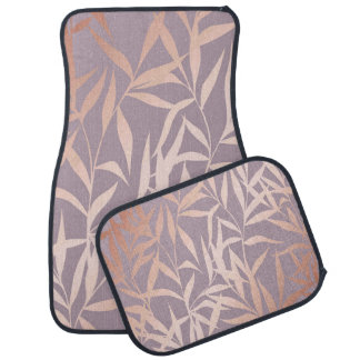 rose gold, asian,leaf,pattern,bamboo trees, beauty car mat