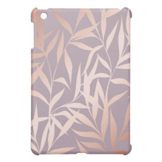 rose gold, asian,leaf,pattern,bamboo trees, beauty case for the iPad mini