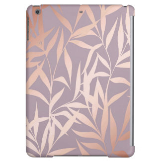 rose gold, asian,leaf,pattern,bamboo trees, beauty cover for iPad air
