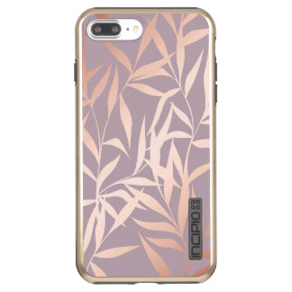 rose gold, asian,leaf,pattern,bamboo trees, beauty incipio DualPro shine iPhone 8 plus/7 plus case