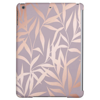 rose gold, asian,leaf,pattern,bamboo trees, beauty iPad air cases