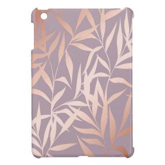 rose gold, asian,leaf,pattern,bamboo trees, beauty iPad mini cover