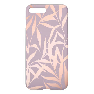 rose gold, asian,leaf,pattern,bamboo trees, beauty iPhone 8 plus/7 plus case