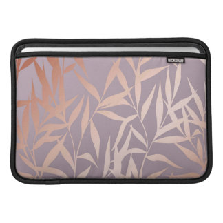 rose gold, asian,leaf,pattern,bamboo trees, beauty MacBook sleeve