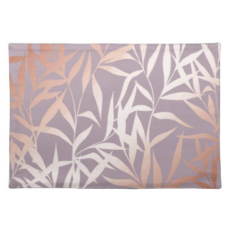 rose gold, asian,leaf,pattern,bamboo trees, beauty placemat