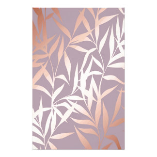 rose gold, asian,leaf,pattern,bamboo trees, beauty stationery