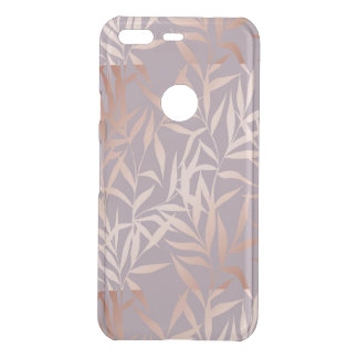 rose gold, asian,leaf,pattern,bamboo trees, beauty uncommon google pixel case