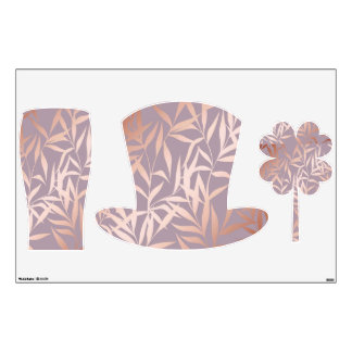 rose gold, asian,leaf,pattern,bamboo trees, beauty wall sticker