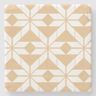 Rose Gold Aztec Design Marble Stone Coaster