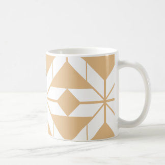 Rose Gold Aztec Geometric Design Mug
