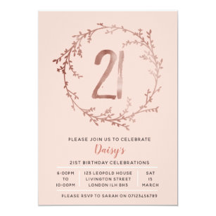 Girls 21st Birthday Invitations Zazzle Ca