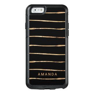 Rose Gold Black Elegant OtterBox iPhone 6/6s Case