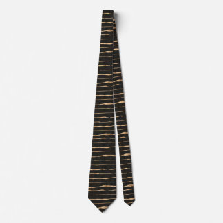 Rose-Gold & Black Hand Made Stripes Pattern Tie