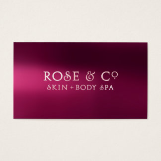Rose Gold Blush Burgundy Shadows Glam Strawberry Business Card