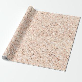 Rose Gold Blush Crystal Metallic Glass Pastel Wrapping Paper