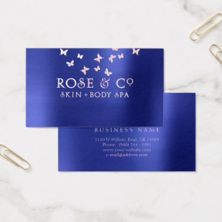 Rose Gold Blush Emerald Cobalt Blue Butterfly Pure Business Card