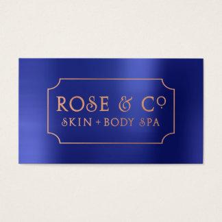 Rose Gold Blush Emerald Cobalt Blue Frame 1 Business Card