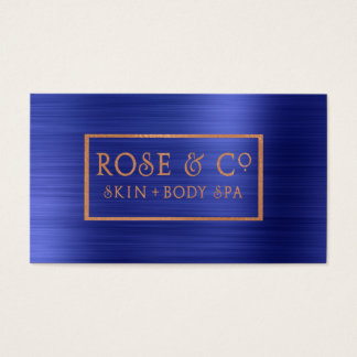 Rose Gold Blush Emerald Cobalt Blue Frame 4 Business Card