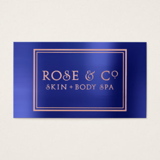 Rose Gold Blush Emerald Cobalt Blue Frame Business Card