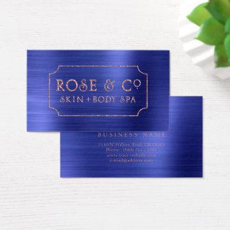 Rose Gold Blush Emerald Cobalt Blue Glitter 2 Business Card