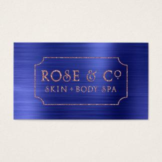 Rose Gold Blush Emerald Cobalt Blue Glitter Business Card