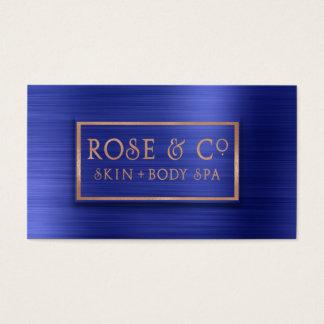 Rose Gold Blush Emerald Cobalt Blue Ombre Business Card