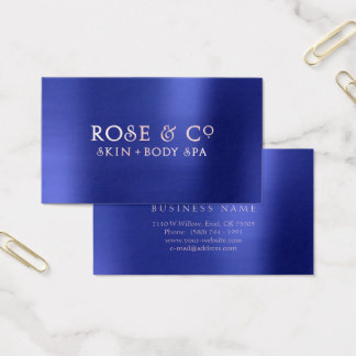 Rose Gold Blush Emerald Cobalt Blue Pure Business Card