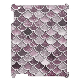 Rose Gold Blush Ombre Glitter Mermaid Scales iPad Cover