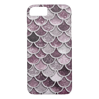 Rose Gold Blush Ombre Glitter Mermaid Scales iPhone 8/7 Case