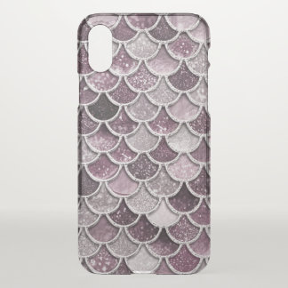 Rose Gold Blush Ombre Glitter Mermaid Scales iPhone X Case