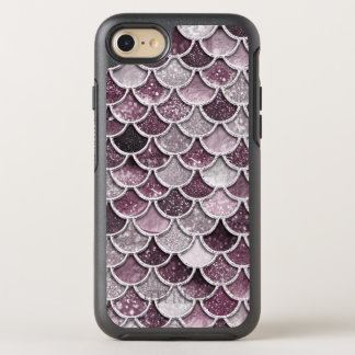 Rose Gold Blush Ombre Glitter Mermaid Scales OtterBox Symmetry iPhone 8/7 Case