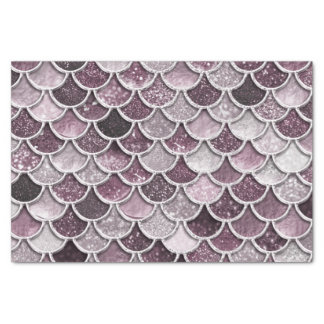 Rose Gold Blush Ombre Glitter Mermaid Scales Tissue Paper