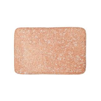 Rose Gold Blush Pink Crystal Copper Lux Glitter Bath Mat