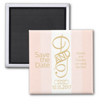 Rose Gold Blush Save the Date Magnet
