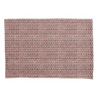 Rose Gold Chainmail Pink Metal Armor Metallic Look Pillowcase