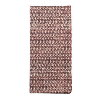 Rose Gold Chainmail Pink Metal Armor Metallic Look Printed Napkin