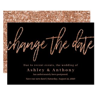 Rose Gold Change the Date Card