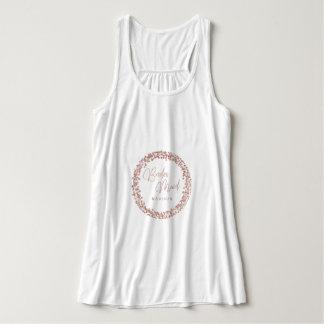 Rose Gold Circle Frame Wedding Bridesmaid Tank Top