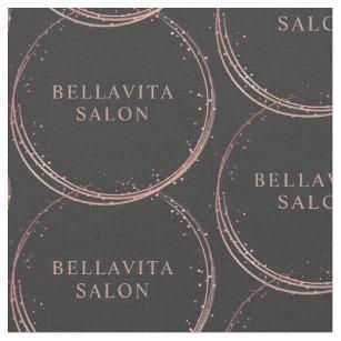 Rose Gold Circle Salon Logo Hair Stylist Fabric