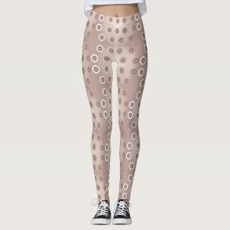 Rose gold circles leggings