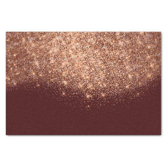 Rose Gold Copper Metallic Glitter Burgundy Maroon Tissue Paper