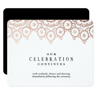 Rose Gold Delicate Wedding Enclosure Card