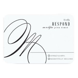 Rose Gold Delicate Wedding Reply Card