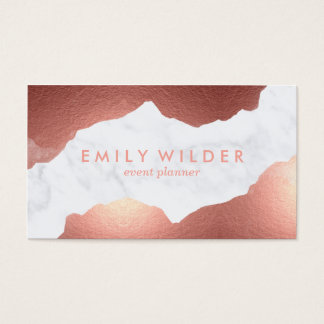 Rose Gold Dipped Marble | Business Card