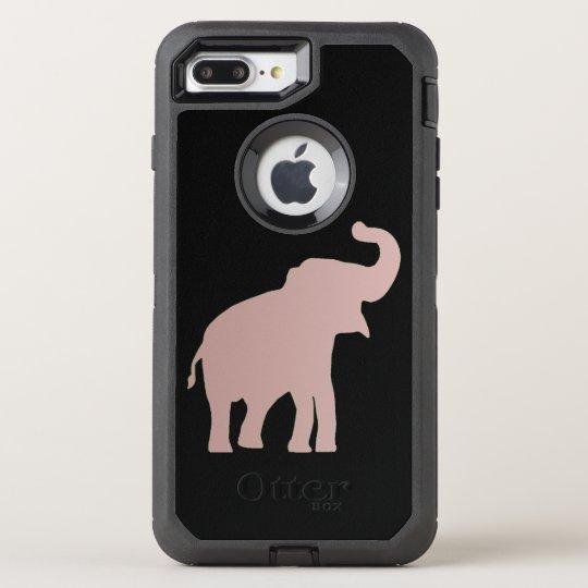 rose gold elephant OtterBox defender iPhone 7 plus case
