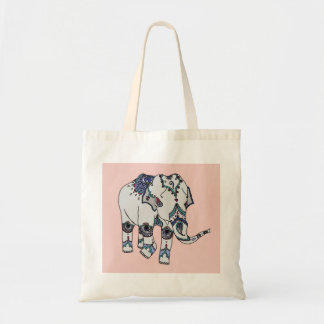 Rose Gold Embellished Elephant Bag