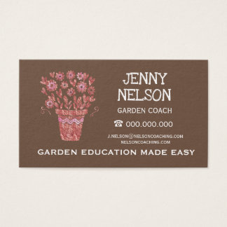 Rose Gold Emperador Brown Landscape Business Business Card