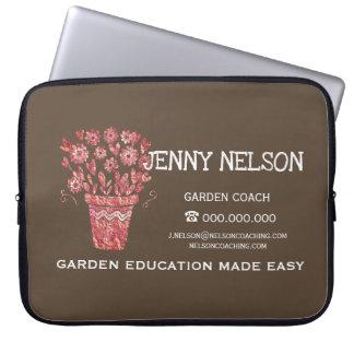 Rose Gold Emperador Brown Landscape Business Laptop Sleeve