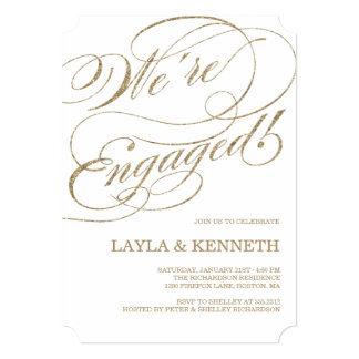 Rose Gold Engagement | Engagement Party Invitation